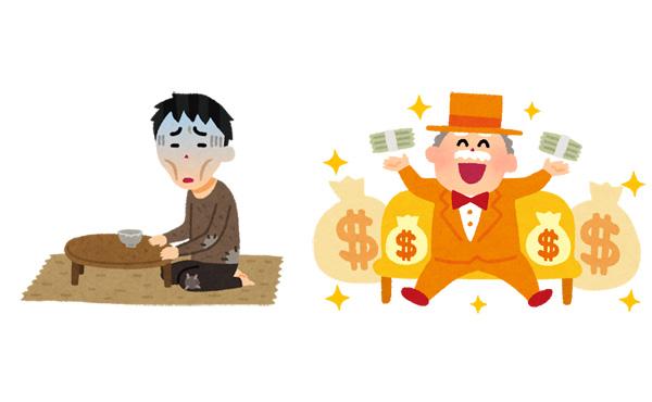 貧乏から超大金持ちになるってあり得るんか?