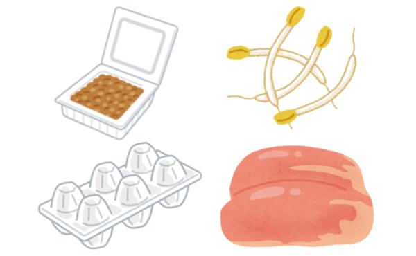 四大貧乏節約食材「納豆」「卵」「もやし」「鶏むね肉」