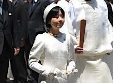伊勢神宮を参拝する黒田清子さん