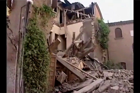 フェラーラ in Italian earthquake
