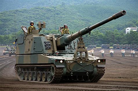 99式自走155ミリ榴弾砲