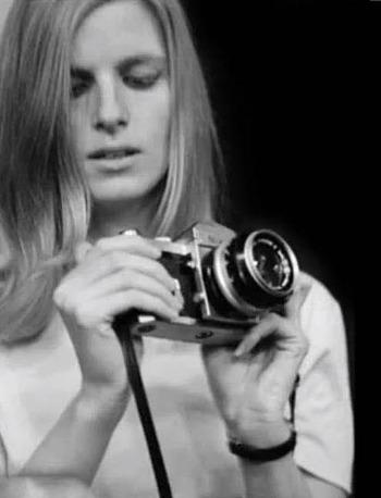 Linda with camera