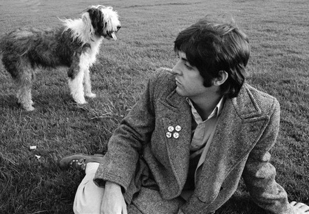 Paul and sheepdog by Linda