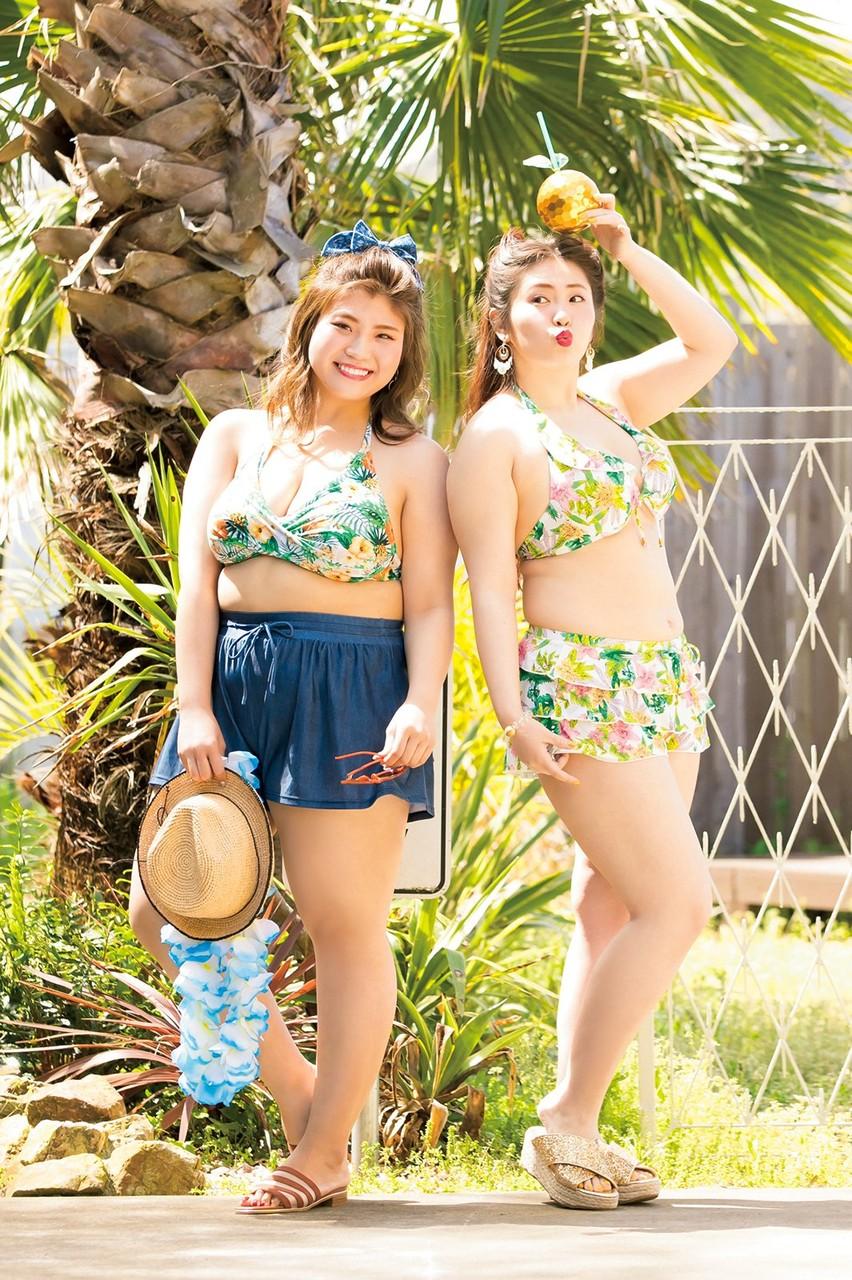 【画像35枚】ぽっちゃり向け雑誌のぽっちゃり女子が水着姿を披露