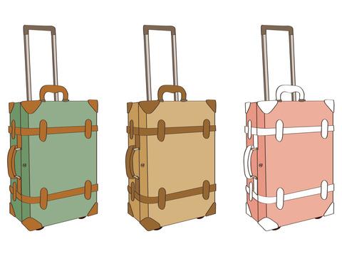 3色スーツケース