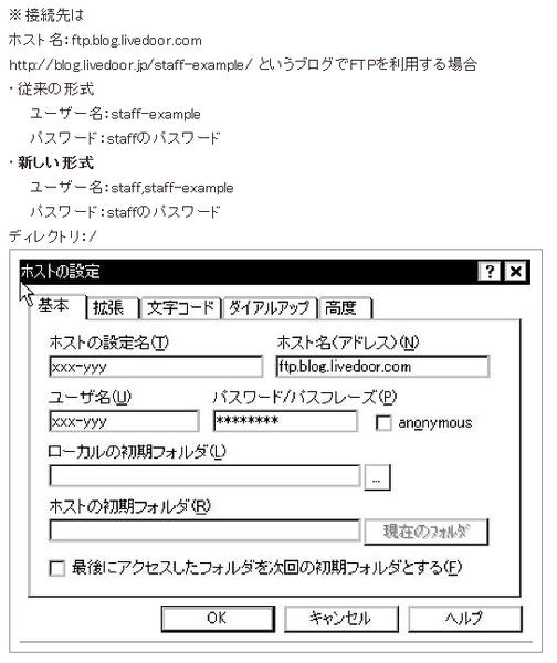 FTP を含む記事   ブログの使い方ガイド