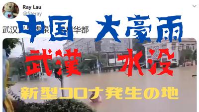 中国 大豪雨武漢 水没