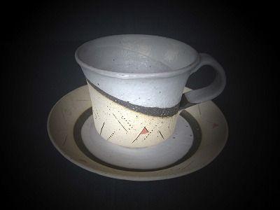コーヒーカップ赤加工