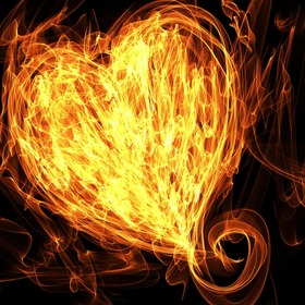 flaming-heart