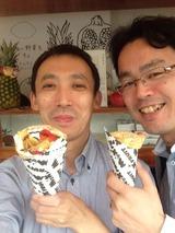 神戸ワークのランチのデザートはクレープなどが素敵です。