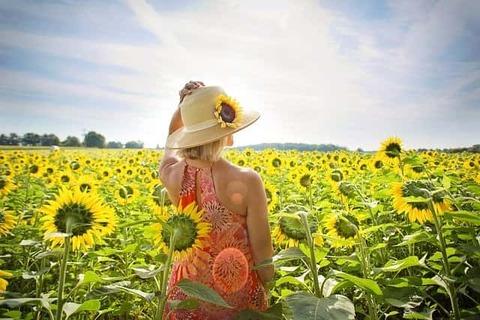 woman-in-sunflower