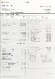 しー@さいたま-CT200h F SPORT見積もり