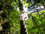 三段の滝看板