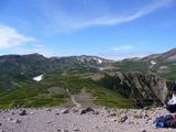 黒岳山頂からお鉢平方向
