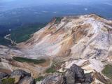 上ホロカメットク山山頂から安政火口