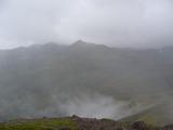 黒岳山頂から烏帽子岳方向