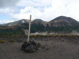 松田岳山頂から北鎮岳方向