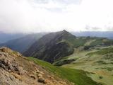 ポントナシベツ岳、夕張岳方向
