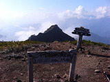 ニセイ山頂から大槍方向