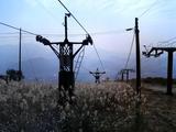 伊吹山スキー場2合目A・B線シングル横廃リフト1