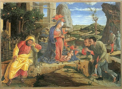 800px-Andrea_Mantegna_The_Adoration_of_the_Shepherds