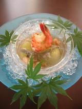 冬瓜とジュンサイの彩り冷やし鉢