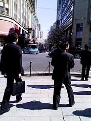 さくら通りと銀座中央通りの交差点