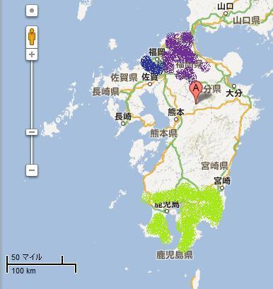 map kyushu