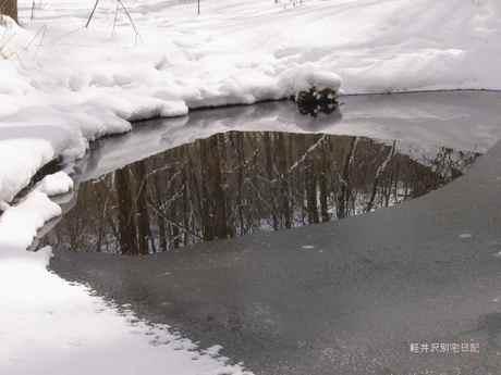 氷のドングリ池