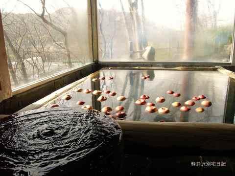 中棚荘りんご風呂