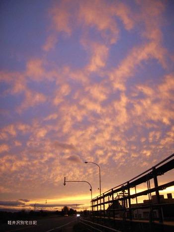 石狩川夕焼け