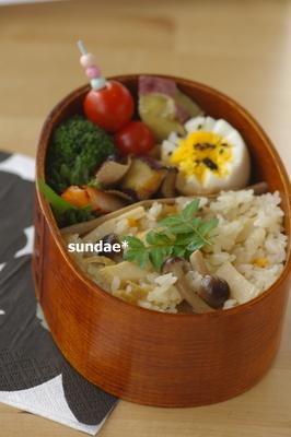 竹の子ご飯弁当