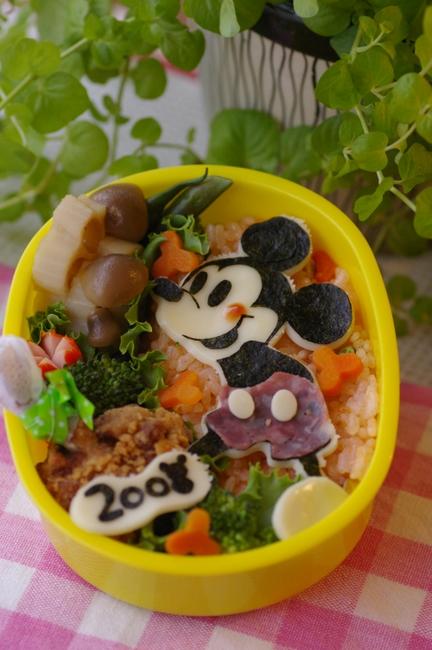 ディズニーキャラ弁:ミッキーマウス弁当