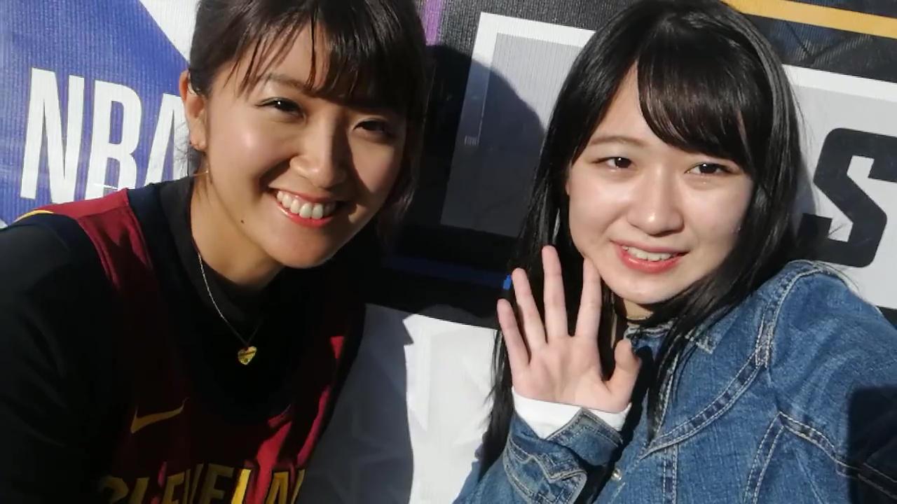 徳永千奈美と野中美希がアメリカで英語をしゃべってる動画 : ジェイ ...