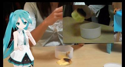 【動画】冷凍プッチンプリンでかき氷♪