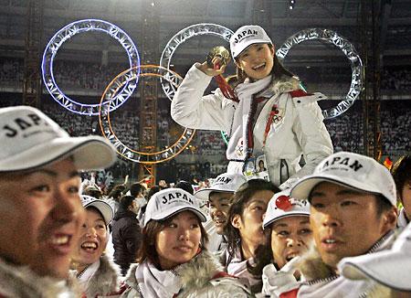 安藤美姫 2006年トリノ五輪閉会式