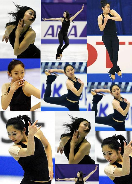 安藤美姫 NHK杯 公式練習