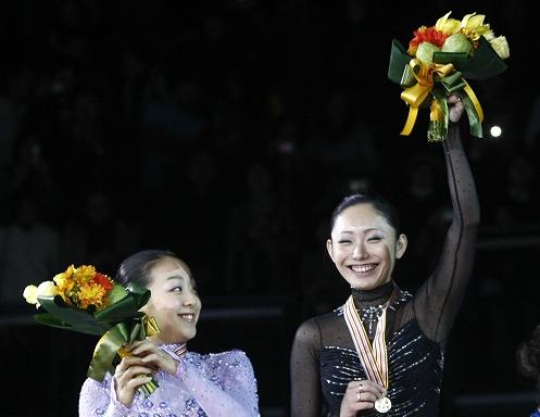 浅田真央、安藤美姫、四大陸フィギュアスケート選手権