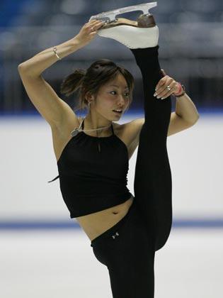 安藤美姫 全日本選手権2005年公式練習