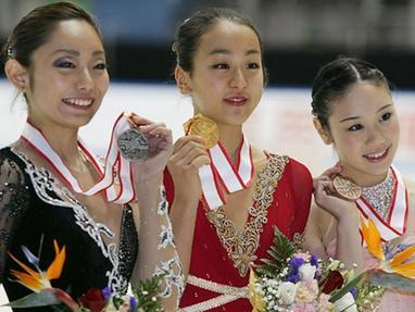 安藤美姫 全日本選手権 表彰式