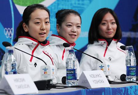 浅田真央、鈴木明子、安藤美姫、バンクーバーオリンピック