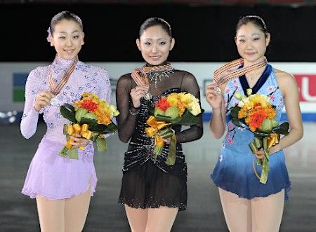浅田真央、安藤美姫、長洲未来、四大陸フィギュアスケート選手権