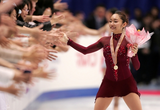 安藤美姫、優勝! フィギュアスケート世界選手権東京大会