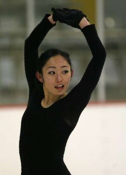 安藤美姫 公式練習:4大陸選手権