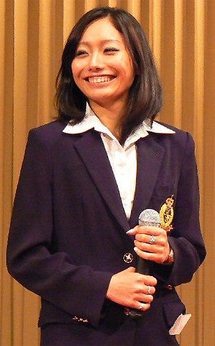 安藤美姫、日本スケート連盟・優秀選手表彰祝賀会