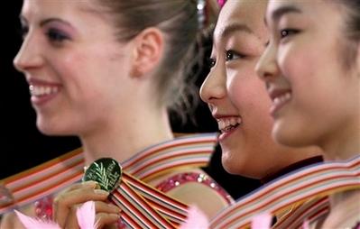 浅田真央 優勝 カロリナ・コストナー キム・ヨナ フィギュアスケート世界選手権