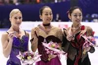 ジョアニー・ロシェット、浅田真央、安藤美姫フィギュアスケート4大陸選手権