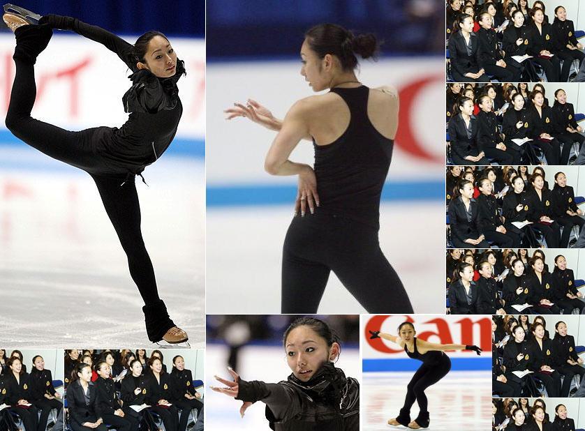 安藤美姫 全日本選手権公式練習、女子SP滑走順抽選会