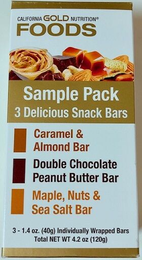 California Gold Nutrition, Sample Snack