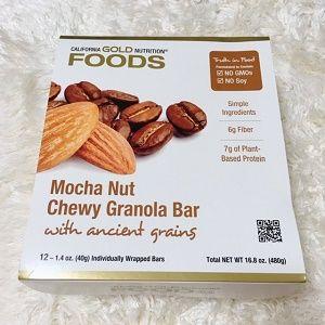 California Gold Nutritionモカナットチューイーグラノーラバー